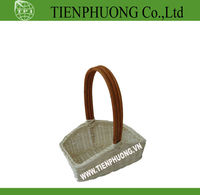 rattan basket for gift and flower with handle