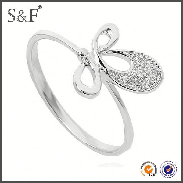 HOT SELLING!!! Newest Style Crystal silver ring 325