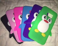 Cute penguin silicone case skin cover for Samsung Galaxy S7