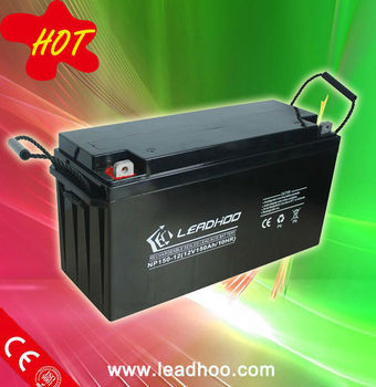 gel lead acid 12V 150AH deep cycle battery/storage battery/ups battery