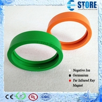 With 4000CC Negative Ions Energy Rubber Ring Circle Silicone Rubber Ring Protector for Bio Disc