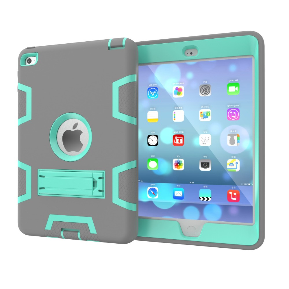Durable ShockProof Hybrid Stand Case Cover For iPad Mini 4 Tablet Case