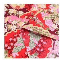 Fonesun-C314 Fancy dog print bronzing japanese style 100% cotton woven fabric for kimono