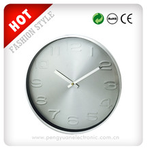 Large decorative quartz promotional metal wall clock