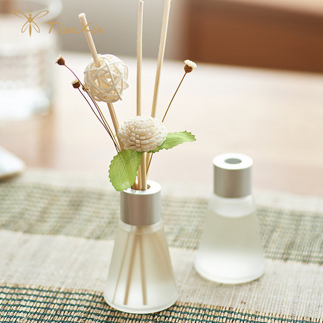 silver lid packaged box set mini paper flower reed diffuser