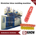 Folding stretcher extrusion blow molding machine