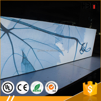 65mm wall mounted Aluminum advertising fabric panoramic light box