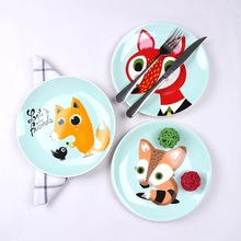 8 inch Wholesale animal theme ceramic dinner plates