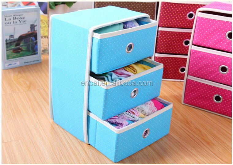 Encai Dot Style Folding Clothes Storage Boxes Cheap Storage Drawer 3 Layers  sc 1 st  Yiwu Encai Caseu0026Bag Factory - Alibaba & Encai Dot Style Folding Clothes Storage Boxes Cheap Storage Drawer ... Aboutintivar.Com
