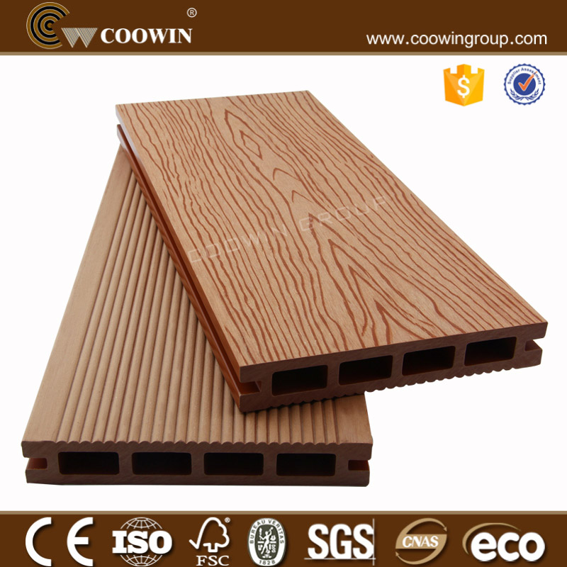COOWIN brand quality-assured hollow wpc out door decking