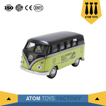 wholesale open door diecast bus model cheap funny toys for children