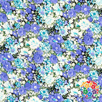 White Blue Flower Printed Soft Cotton Material 100 % Cotton Fabrics Cloth Wholesale