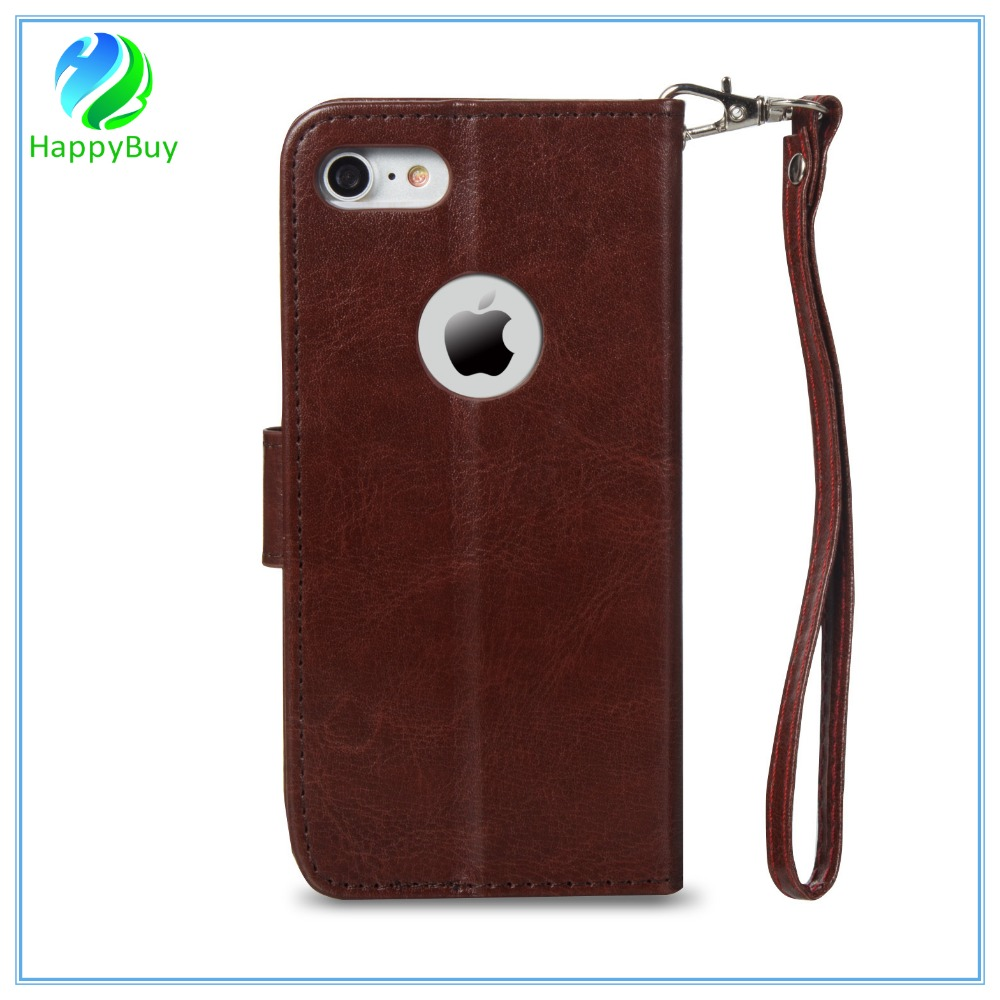 Top selling new leather wallet phone case for iphone5/5SE,6/6s/6 plus,7/7 plus with special card slots