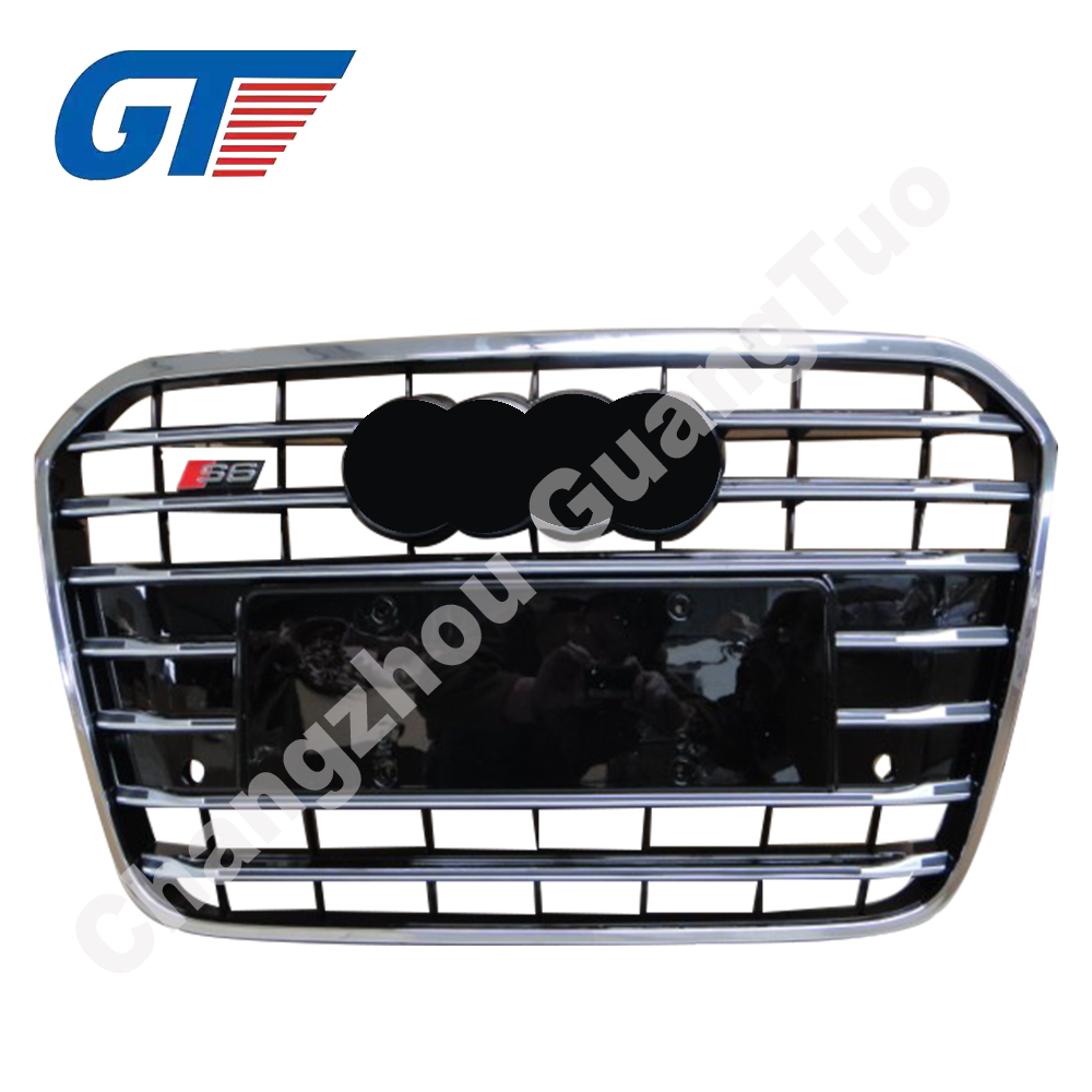 Auto parts C6 S6 front grille with good quality for Audi A6