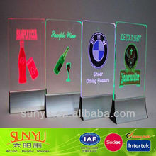 Acrylic LED Menu Holder Display Stand