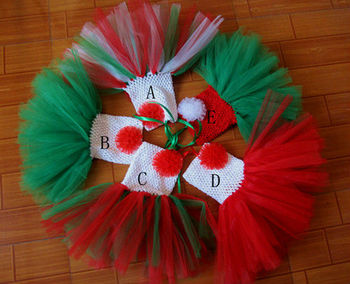 2013 christmas red and green tutu dress