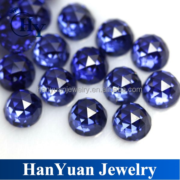 Beautiful grade AAAAA 8mm tanzanite rose cut faceted round cubic zirconia