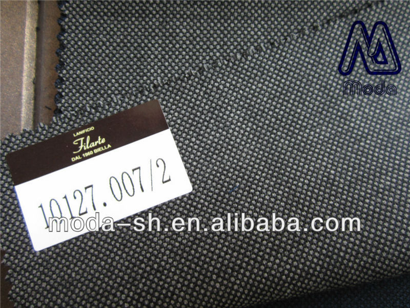 middle grey super180 100wool suit fabric worsted dotted 10127.007/2