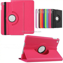 Mobile accessories lychee pattern 360 degree rotation leather case tablet case for iPad mini 4