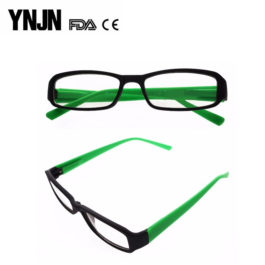 Wholesale green PC spring hinge italy design YNJN new model optical frame