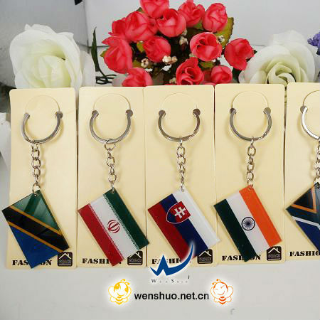 National Flag Fashion 3d Soft Stylish Pvc Key Ring