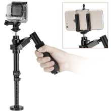 Professional Phone And Sport Camera Handheld Steadicam Video Stabilizer With clip