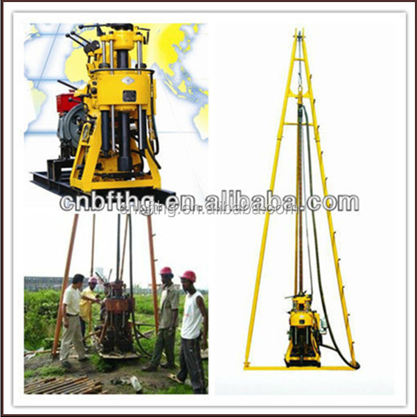 tailer type drilling rig , MT-130Y 130m water well Hard Rock Driller