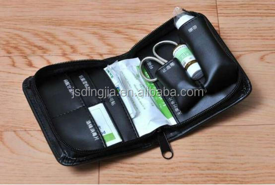 new design J type leather material first aid bag