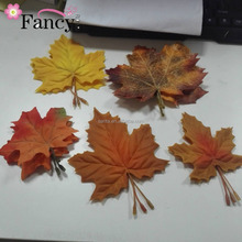 plastic artificial green maple leaves for home decoration artificial autumn leaves maple