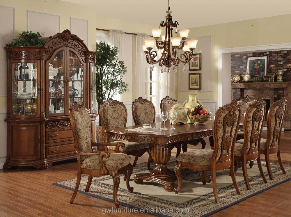 European style dining room furniture