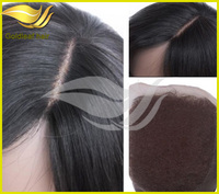 top quality 4x4 cheap brazilian hair closure with free parting, middle parting, three parting