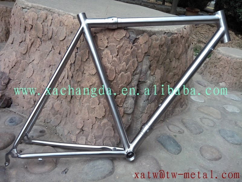 titanium road bike frame with S&S coupler titanium S&S coupler road bike frame