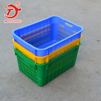 high quality wholesale storage food fruit shopping vegetable yellow plastic basket for supermarket