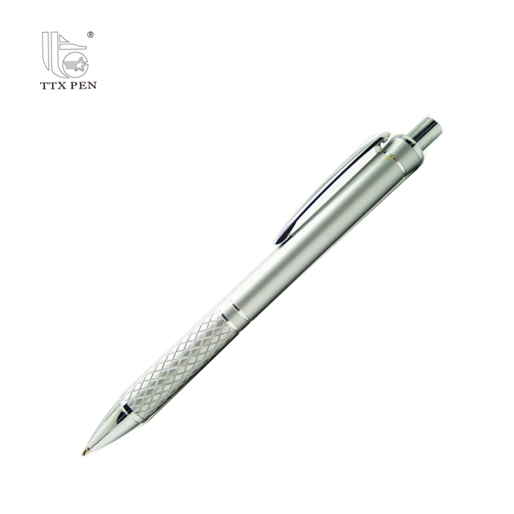 Colorful click ball pen with metal clip slim metal promotional ball pen with logo