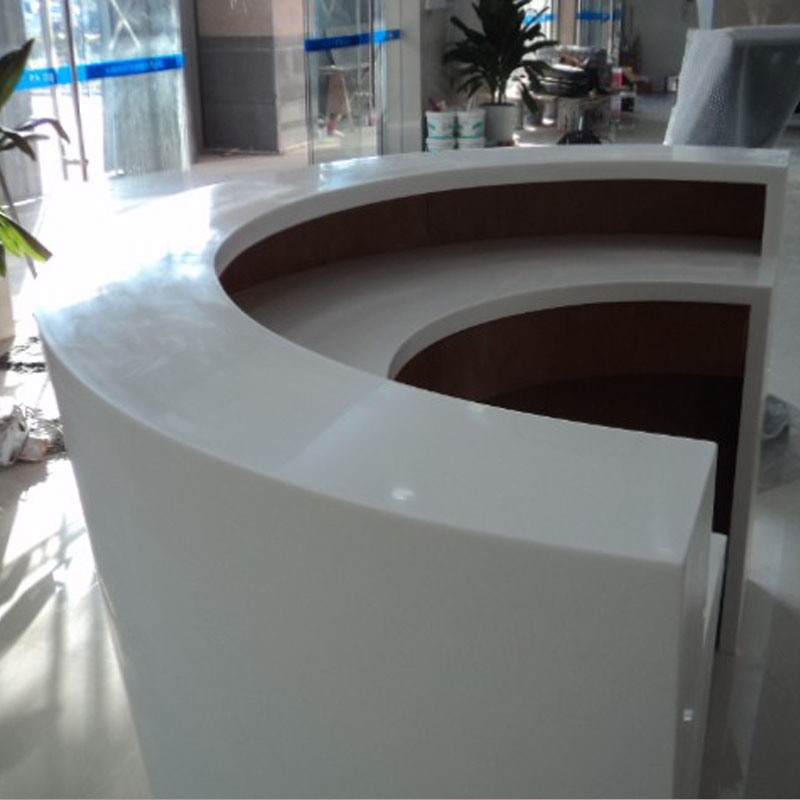 Custom width solid surface reception desk countertop buy for Corian solid surface countertops prices