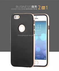 2 in 1 silicone +pc hybrid business series phone case for iphone 5s 6 6plus