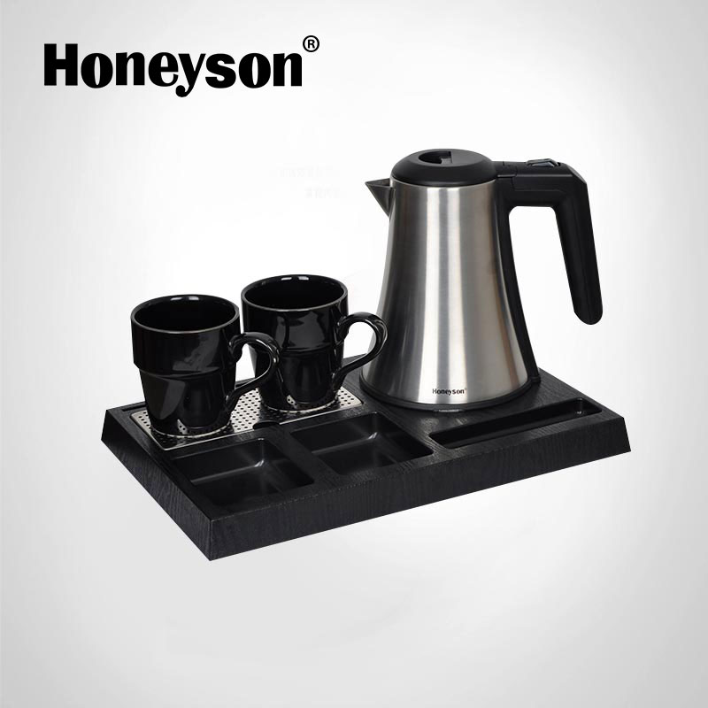 Honeyson hotel best rated small electric kettle with tray cordless