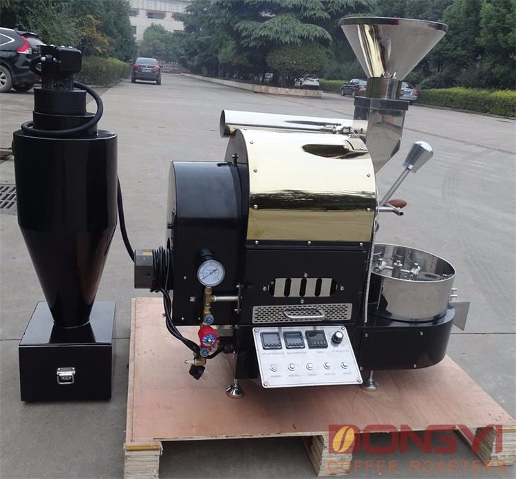 cafe shop 2kg coffee bean roaster with computer data logger