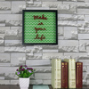 China Factory Wall Decor PS islamic photo frameHouse with Silk-Screen Letters