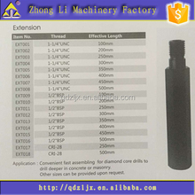 Fast Assembling Extension Rod for diamond core drills
