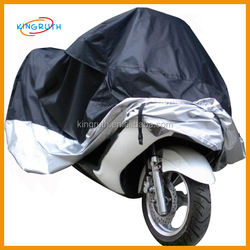 Wholesale outdoor for waterproof black silver motorcycle cover