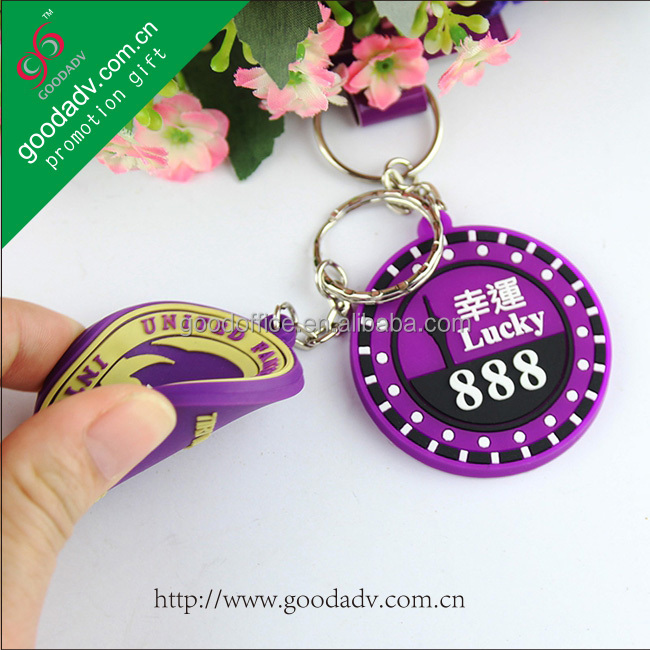 New design lovely cartoon rubber keychain / pvc soft key chain / key chain