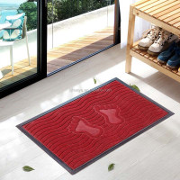 Entry door mat antislip recycled rubber feet design carpet rug