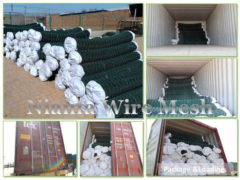 9 Guage Used Galvanized Chain Link Fencing/PVC coated Chain Link ...