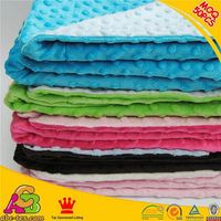 SGS checked professional China supplier 50pcs MOQ 2015 newest design handmade minky baby blanket