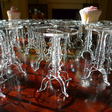 Clear Acrylic Cupcake Pedestal Stands for Wholesale