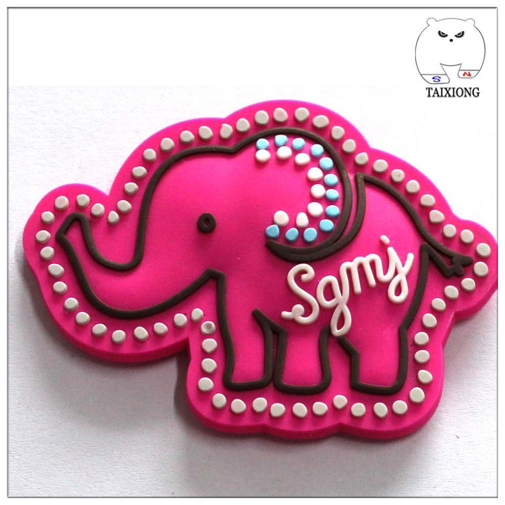 Decorative Die Cut Animal Elephant Cartoon 3D PVC Magnets For Fridge