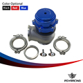 PQY RACING-TL Racing Billet Aluminum Car 60MM Vband V60 Flange Turbo Wastegate For BMW Suba** Honda with logo PQY5835