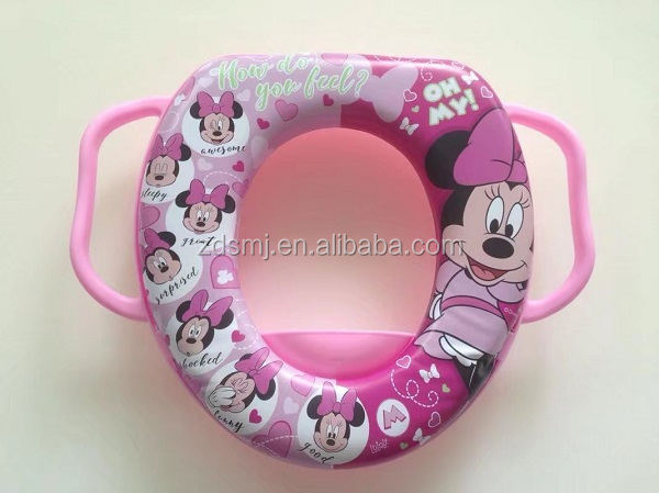 Baby child kids printed soft toilet trainer potty training seat