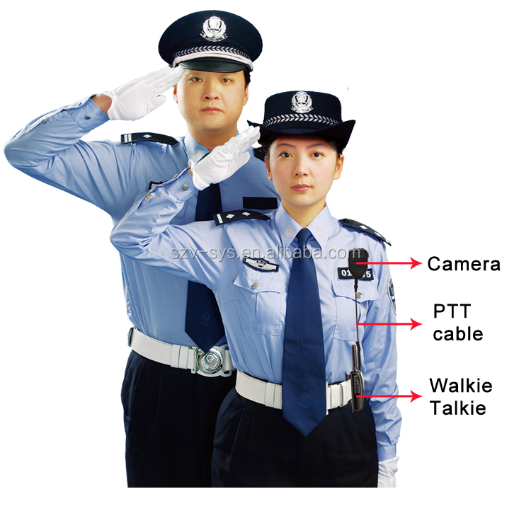 Waterproof Full HD Police Body Worn Camera Support Encryption Technical